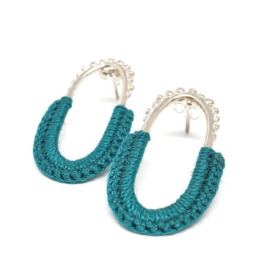 Earrings - Turquoise Sterling Vishu Studs by Twyla Dill