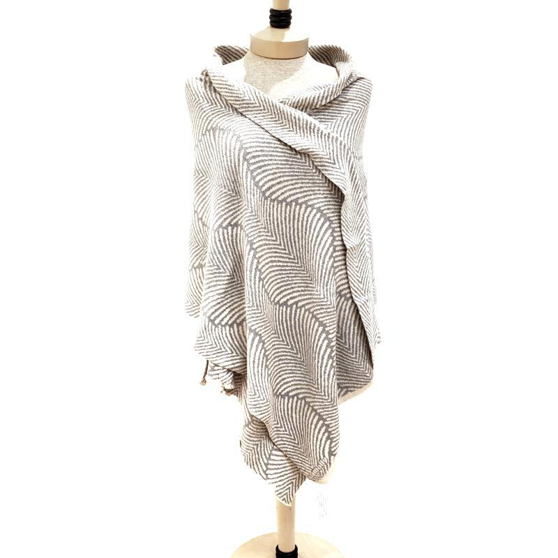 Forest Fern Wrap - Gray and Cream by Liamolly