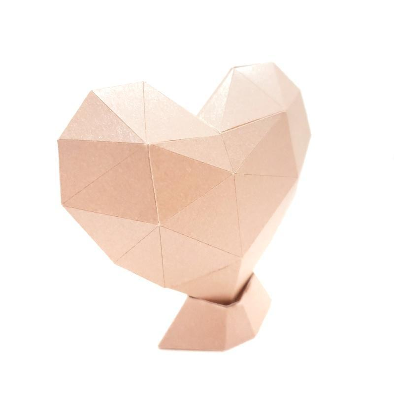 Sculpture - Paper Heart Large (Assorted Colors) by Paper and Blade
