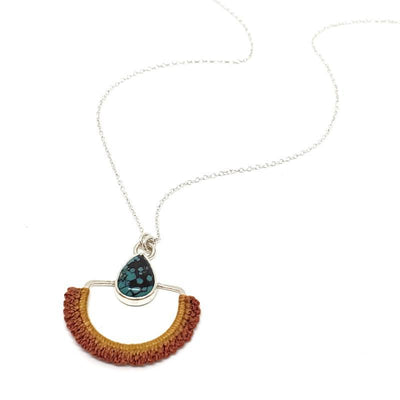 Necklaces - OOAK Flame Hubei Turquoise Arcos by Twyla Dill