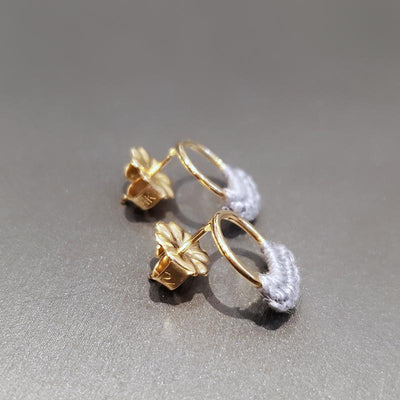 Earrings - 14k Slate Ember Studs by Twyla Dill