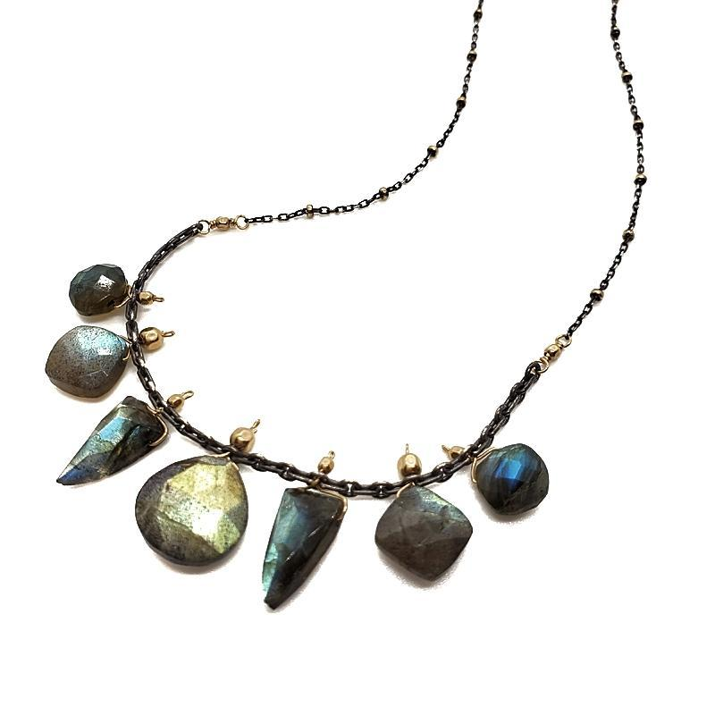Necklace - Labradorite Multi-shape Collar by Calliope Jewelry