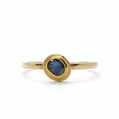 Ring - Sapphire Stacking Ring in 14k Gold Size 6.25 by Silver + Salt