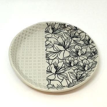 Large Plate - Magnolia by Clay It Forward