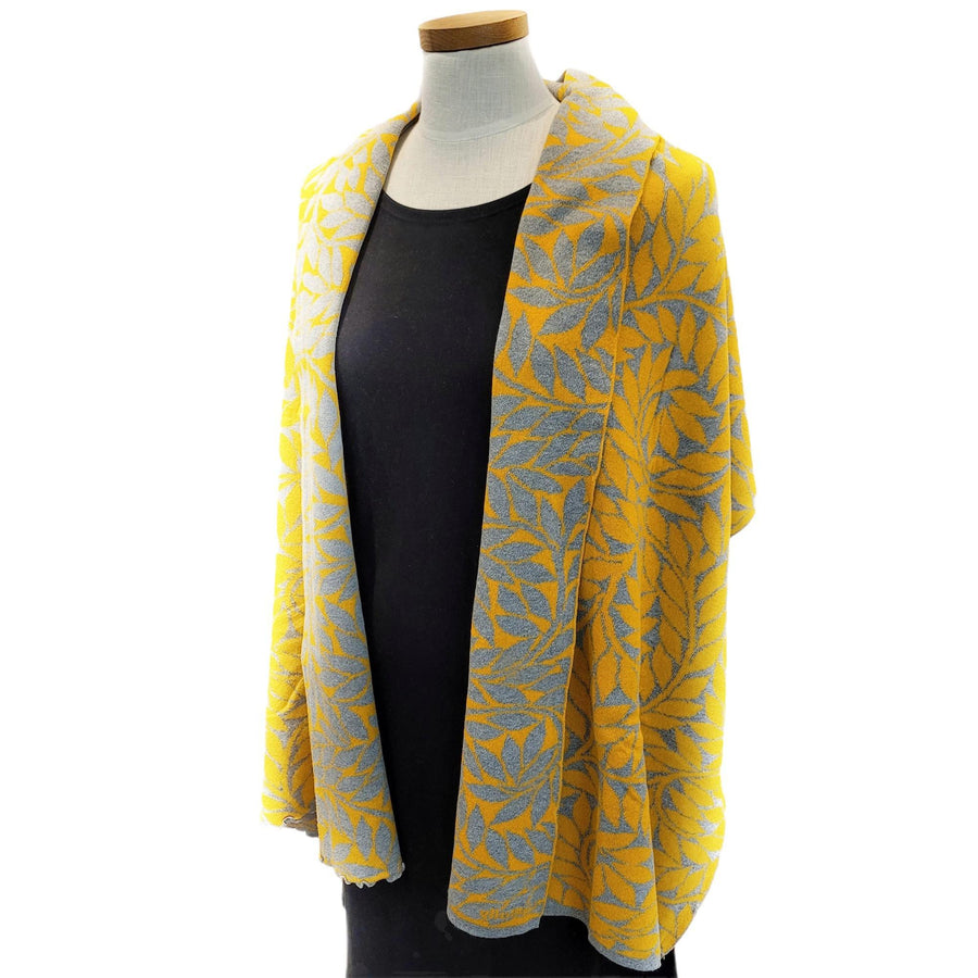 Olive Branch Wrap - Yellow and Grey by Liamolly