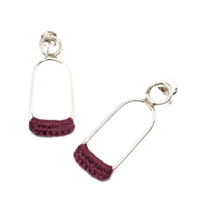 Earrings - Wine Sterling Linnu Studs by Twyla Dill