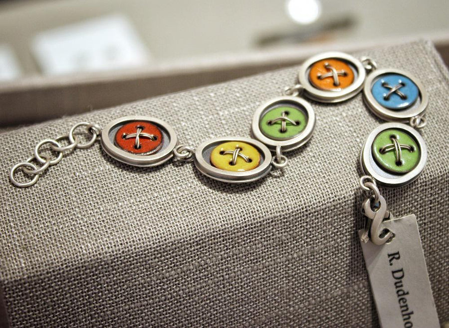 Bracelet - Betti - Assorted Colors Enamel Sterling Silver by Robert Dudenhoefer II