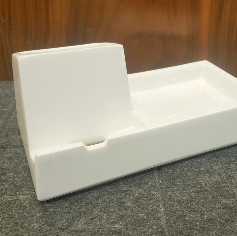Valet - Phone Dock - White by Stak Ceramics