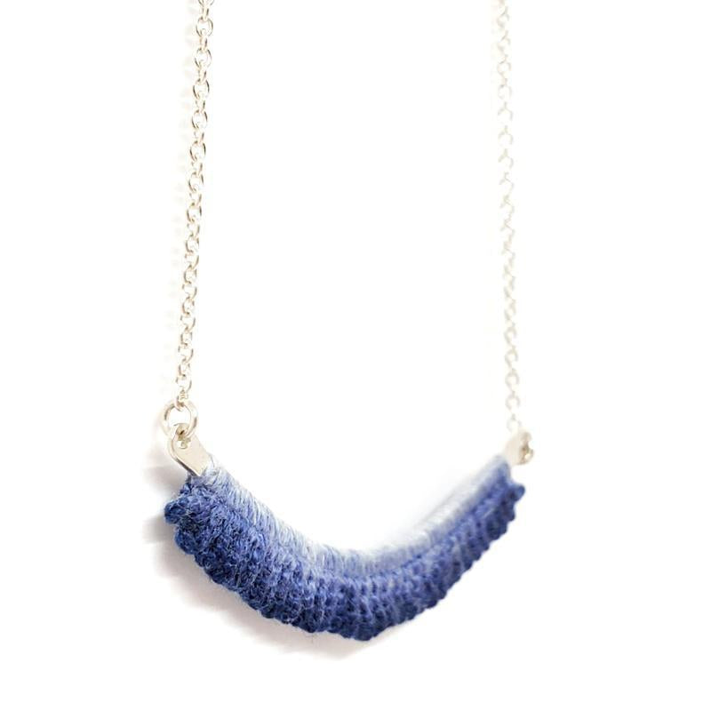 Necklaces - OOAK Blue Flame Sterling by Twyla Dill