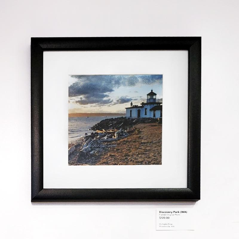 Framed Photo - Discovery Park Lighthouse (Seattle, WA) - Tiny People in Big Places by Michaela Rose