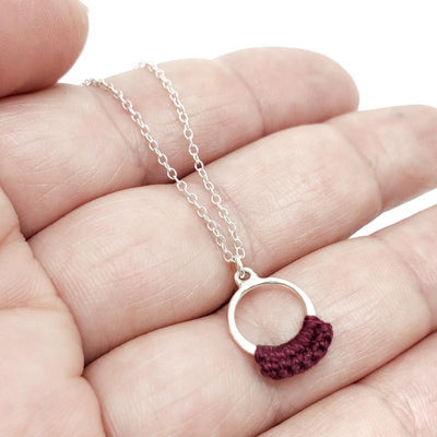 Necklaces - Wine Sterling Ember by Twyla Dill