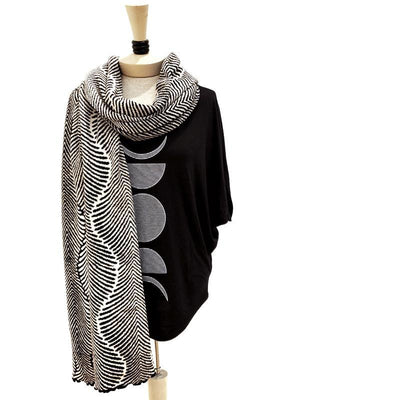 Forest Fern Wrap - Black & Cream by Liamolly