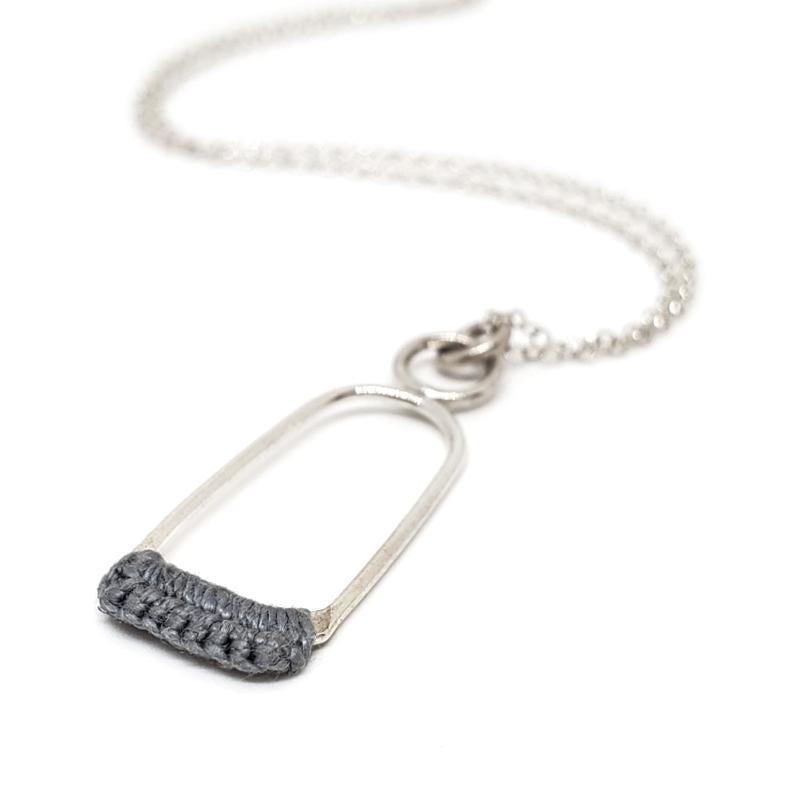 Necklaces - Slate Sterling Linnu by Twyla Dill
