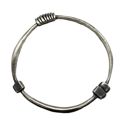 Bracelet - Bangle - Architectural Oxidized Sterling by Taviametal