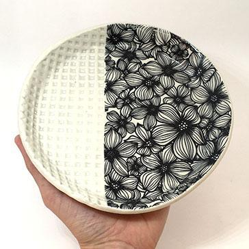 Large Plate - Apple Blossom by Clay It Forward