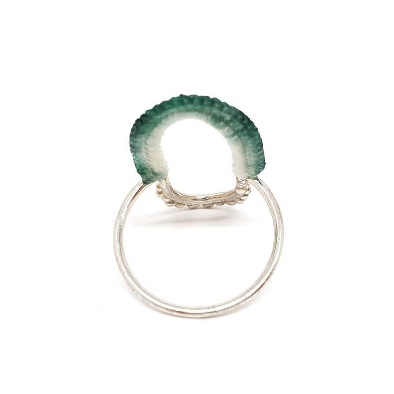 Rings - OOAK Aqua Sterling Vishu by Twyla Dill