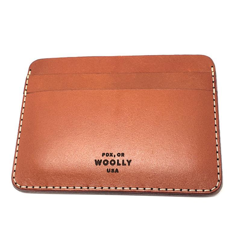 Half Wallet - Smooth Leather (Assorted Colors) by Woolly Made