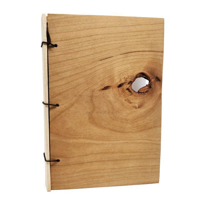 4x6in Knotted Cherry Wood Journal by BookGrain