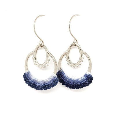 Earrings - OOAK Blue Ombre Sterling Maha by Twyla Dill