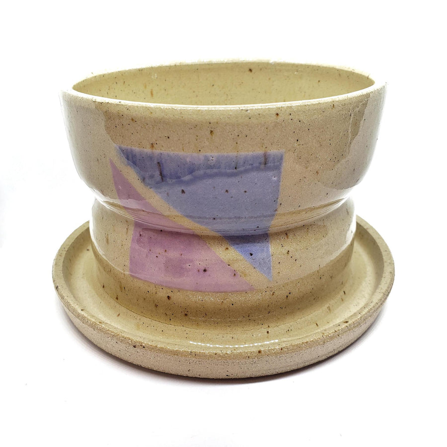 Medium Planter with Saucer by Siera Matsuo Ceramics