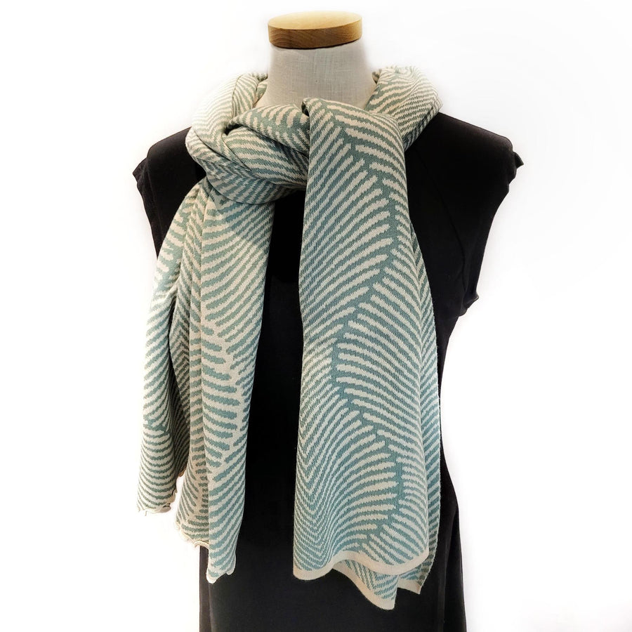 Forest Fern Wrap - Aqua and Cream by Liamolly