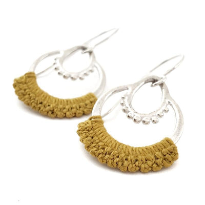 Earrings - Mustard Sterling Maha Earrings by Twyla Dill
