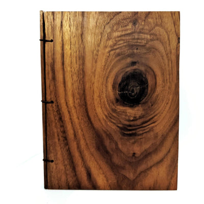 Journal - Knotted Walnut Wood 5x7in (Assorted) by BookGrain