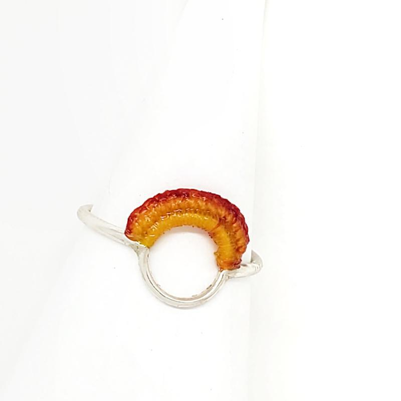 Rings - OOAK Flame Sterling Ember by Twyla Dill