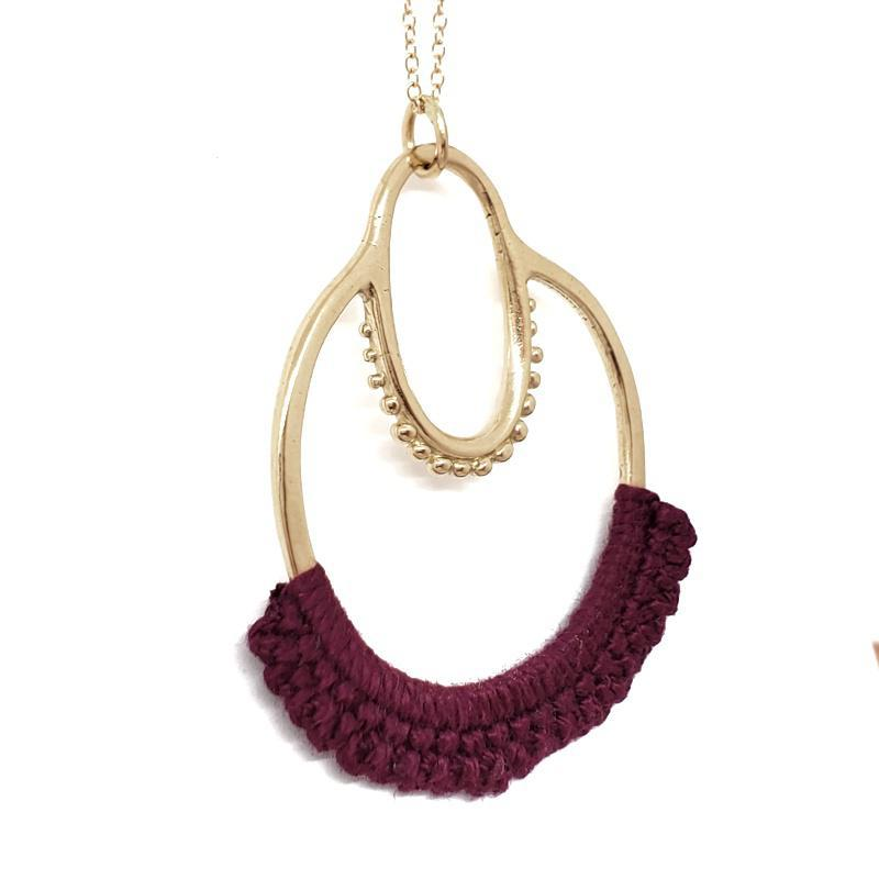 Necklaces - 14k Wine Maha by Twyla Dill