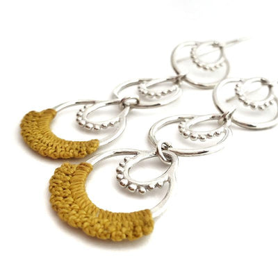Earrings - Mustard Sterling Athra French hook by Twyla Dill