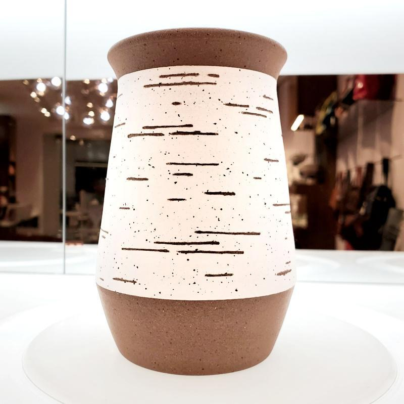 Birch Vase - Tall Flared by Justin Caraco Ceramics