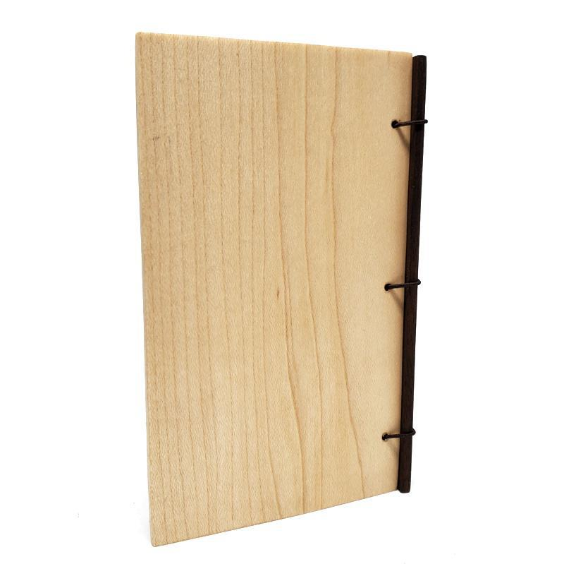 3x5in Knotted Cherry Walnut Maple Wood Journal by BookGrain
