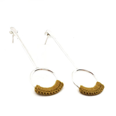 Earrings - Mustard Sterling Droplet Drops by Twyla Dill
