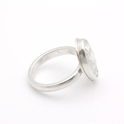 Ring - Size 6.75 - OOAK Rainbow Moonstone Sterling Silver by Silver + Salt