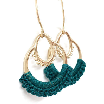 Earrings - 14k Turquoise Small Maha Dangles by Twyla Dill