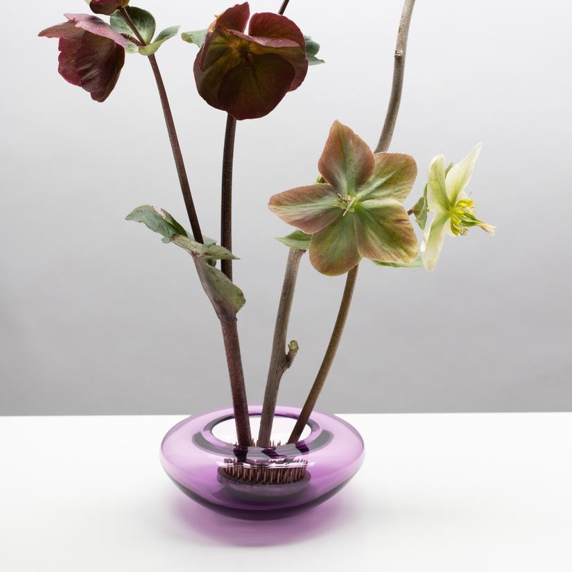 Vase - Puddles Hyacinth by Little Tomato Glass