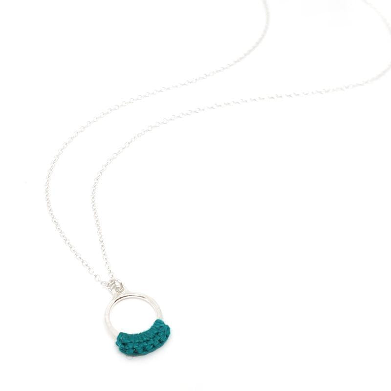 Necklaces - Turquoise Sterling Ember by Twyla Dill