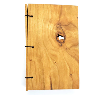 Journal - Knotted Cherry Wood 3x5in (Assorted) by BookGrain
