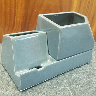 Planter - Sprout Phone Dock - Charcoal by Stak Ceramics