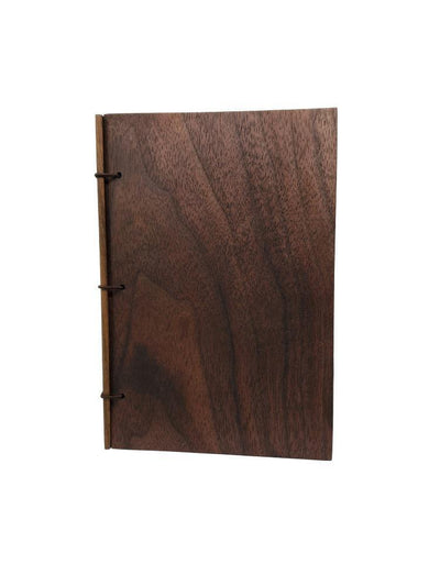 4x6in Walnut Wood Journal by BookGrain