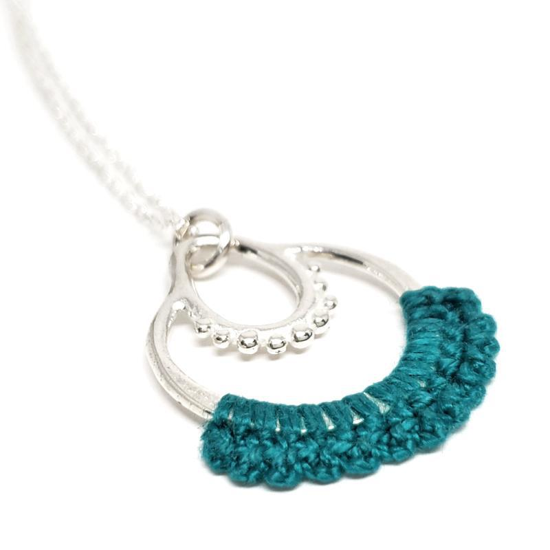 Necklaces - Turquoise Sterling Maha Necklace by Twyla Dill
