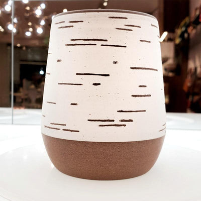 Birch Vase - Short Cylindrical by Justin Caraco Ceramics