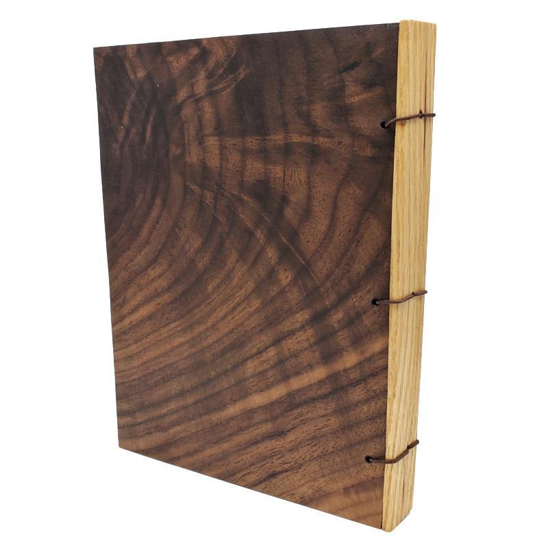 5x7in Knotted Walnut Wood Journal by BookGrain