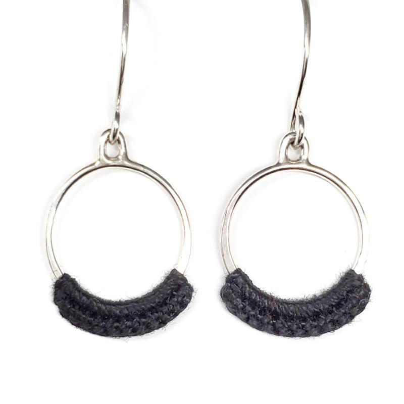Earrings - Coal Sterling Chica French hook by Twyla Dill