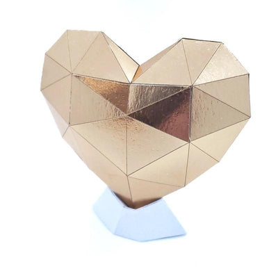 Sculpture - Paper Heart Small (Assorted Colors) by Paper and Blade