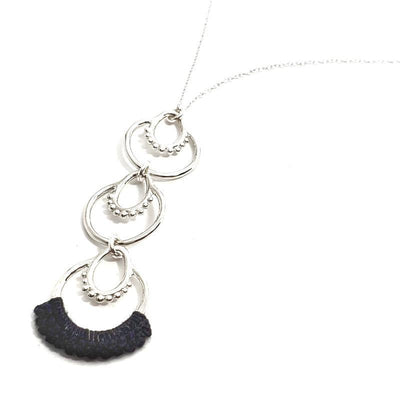 Necklaces - Coal Sterling Athra Triple Drop by Twyla Dill
