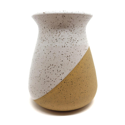 Freckled Vase - Diagonal Flared by Justin Caraco Ceramics