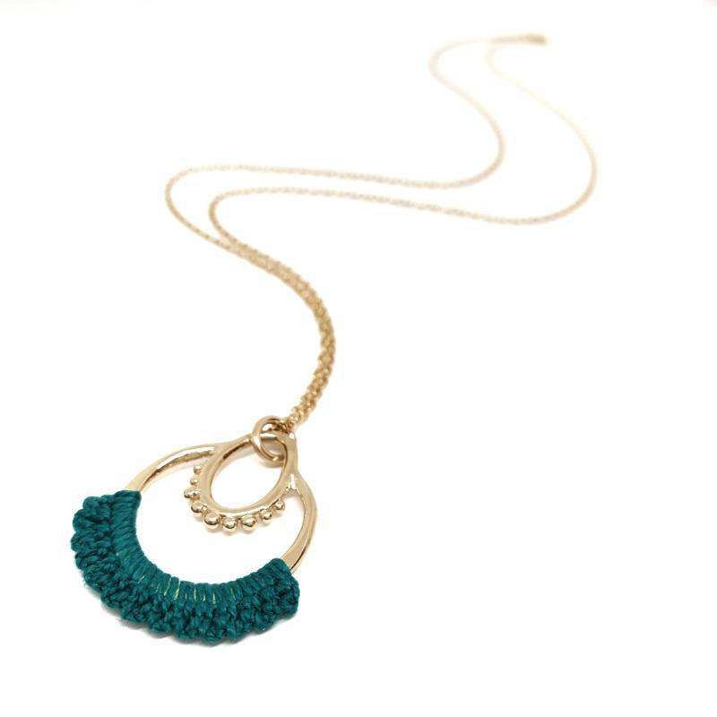 Necklaces - 14k Turquoise Maha by Twyla Dill