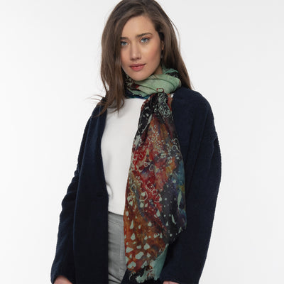 Figments Merino Wool Scarf Lifestyle shot