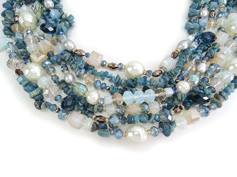 Multi Layer Gemstones Necklace
